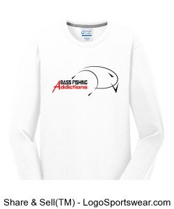 Long Sleeve Essential Blended Performance Tee Design Zoom